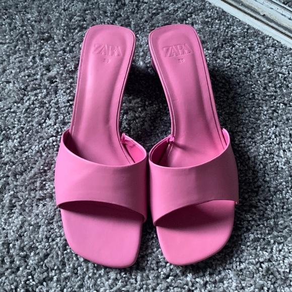 Zara pink heeled sandals